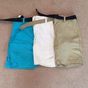 NWOT 3 pair lot Flat Front shorts